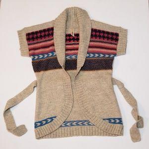 Precious BKE Sleeveless Wrap Cardigan Sweater